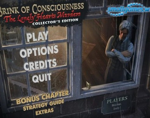 "Casual Game ""Brink of consciousness - Lonely Hearts Murders"""