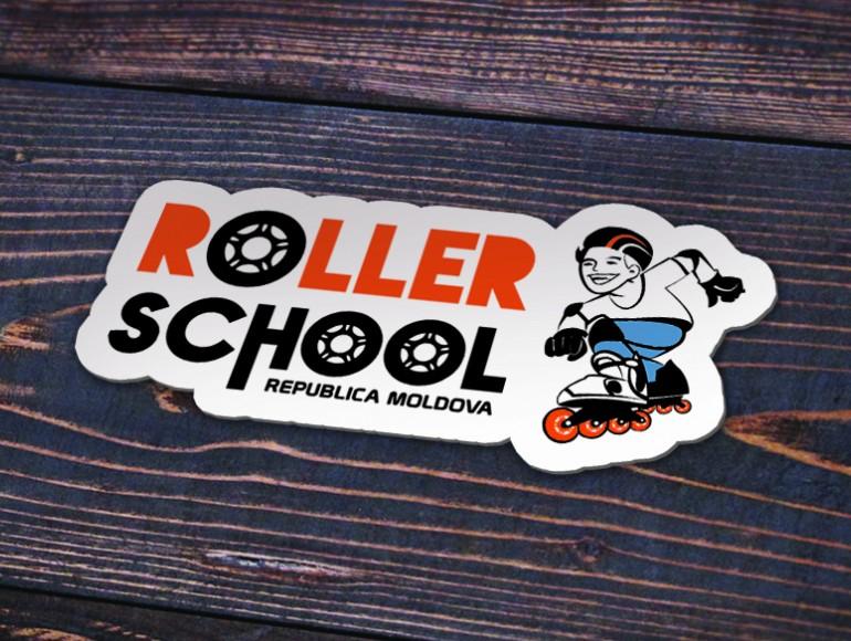 stiker foto Roller school