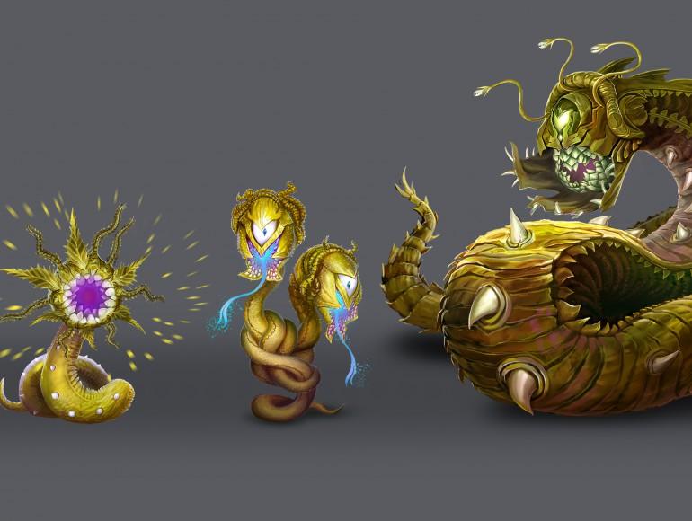 Древесные черви-монстры