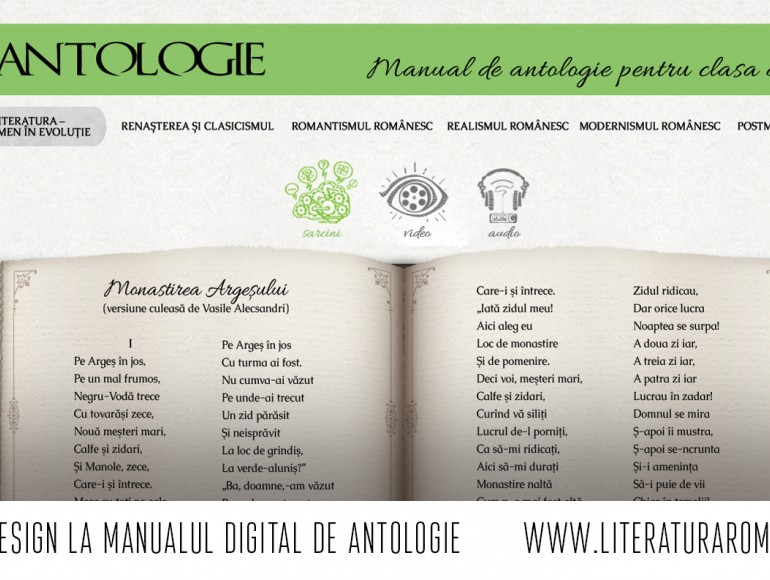 Web design la manualul digital de antologie       www.literaturaromana.md