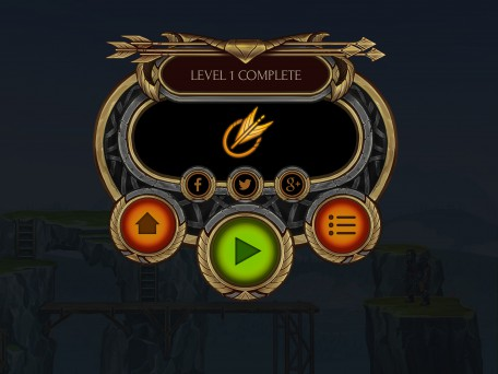 Level complete game UI 1